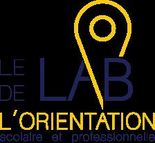 le LAB de l'ORIENTATION - Logo complet - Sans fond - Texte bleu